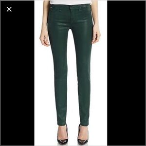 Hudson jeans! Nico green with sheen!! Size 30.